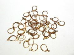 S O L D!  20 Pr. Copper Plated Lever Back Ear Wires. Starting at $5 on Tophatter.com!  http://tophatter.com/auctions/31615?type=partner