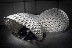 FXFOWLE Lounge Installation | FXFOWLE Architects | Pavillion structure