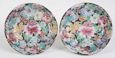Juego de antiguos platos chinos pequeños millefleur - China - siglo XIX
