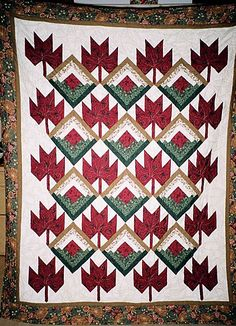 Free Pattern Day: Canadian flag quilts & maple leaf blocks at ... : canadian quilt - Adamdwight.com
