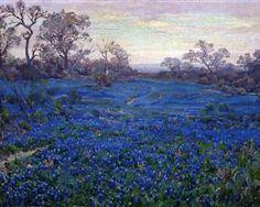Bluebonnets at Twilight, near San Antonio - Robert Julian Onderdonk