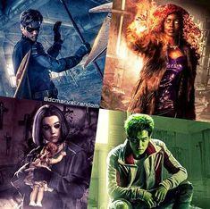 [New] 17 Art Pictures Superhero Poster, Superhero Movies, Titans Tv Series, Dc Comics, Raven Beast Boy, New Titan, Dc Tv Shows, Netflix, Teen Titans Go
