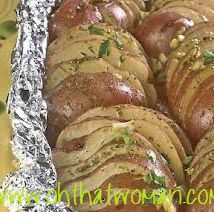 Thrifty Foods - Recipe - Foil-Barbecued Potatoes with Garlic, Lemon and Herbs Bbq Meals, Easy Meals, Easy Recipes, Vegetable Dishes, Vegetable Recipes, Main Dishes, Side Dishes, Lemon Potatoes, Good Enough To Eat