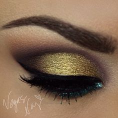 #sugarpillmakeup goldilux on lid to make it pop!  #nyxcosmetics  @ vegas_nay