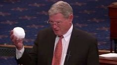 VIDEO: Climate Science Denier Throws Snowball in Senate to Disprove Clim...