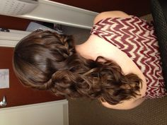 Braided to the side Homecoming Hairstyles, Wedding Hairstyles, Hair Dos, Gorgeous Hair, Pretty Hairstyles, Roxy, Updos, Hair Makeup, Braids