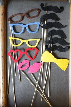 Felt Photo Booth Props  Set of 12 Super Party Pack by RedBirdMakes,