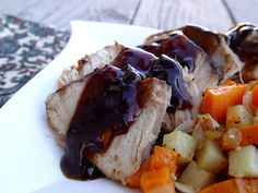 Balsamic brown sugar glazed pork roast...in the CROCK