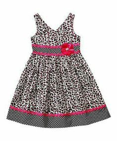Another great find on Sweet Heart Rose Black & Pink Leopard Babydoll Dress - Toddler & Girls by Sweet Heart Rose Frock Patterns, Baby Girl Dress Patterns, Baby Dress, Kids Frocks, Frocks For Girls, Little Girl Dresses, Girls Dresses, 50s Dresses, Baby Frocks Designs