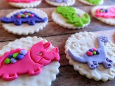 Cute Little Dinosaur Edible Fondant Birthday Or Baby Shower Cupcake Cake Toppers by TopCakeDecors on Gourmly