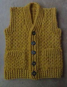 Жилет с карманами  Часть 1  Спинка. Vest knitting part 1