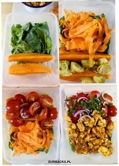 Polish Recipes, Diet Menu, Meal Prep, Healthy Lifestyle, Health Fitness, Healthy Recipes, Healthy Food, Lunch, Stuffed Peppers