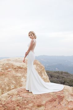 Cool, Sexy Backless Wedding Dress Styling with Katie May