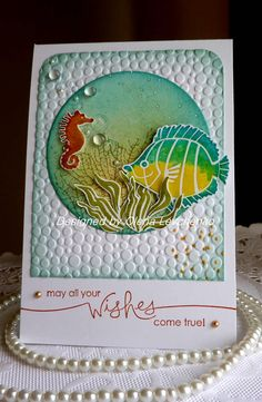 Stampin up Handmade Birthday card NEW by llenusik on Etsy ,,, beautiful under the sea focal image . Handmade Birthday Cards, Greeting Cards Handmade, Nautical Cards, Beach Cards, Stamping Up Cards, Copics, Creative Cards, Kids Cards, Cute Cards