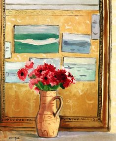 Bouquet by the Mirror / Albert Marquet - circa 1924