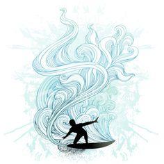 Retro surf Royalty Free Stock Vector Art Illustration