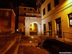 Arco di Riccardo one of the old Roman port of Trieste (Tergeste)