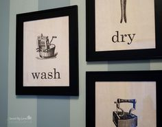 Free DIY Laundry Room Printables @savedbyloves