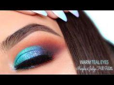 Bright Teal & Warm Eye Makeup   Morphe x Jaclyn Hill Palette Tutorial - YouTube