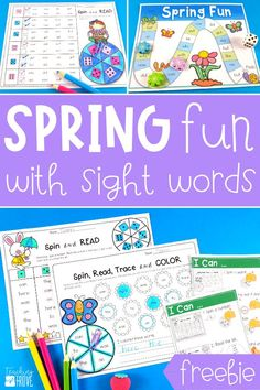 Create sight word stations easily and quickly with this spring themed editable pack. In minutes you can create hands-on teaching resources that are differentiated to help all your young readers learn their sight words. You'll have 21 different literacy centers that target the sight words every child needs to learn. Perfect for small groups and centers. #sightwordpractice #sightwords