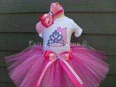 Custom Tutus...TIARA TREASURES... birthday tutu by fairyfashions