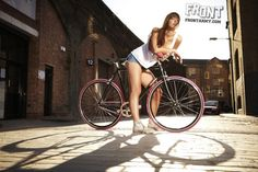 Fixed Gear Girl, Love Is Everything, Bike Rider, Bicycle Girl, Sexy Shorts, Road Bike, Retro, Cycling, Photos