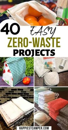 40 Easy Zero Waste Projects for the Home that anyone can do. Zero Waste UnPaper Towels Reusable Lunch Bags Toilet Cleaner DIY Dryer Balls Upcycling Tote Reuseable Produce Bags DIY Soap Bottle Cap repurposing and more! Upcycled Crafts, Diy Crafts, Recycled Art, Repurposed, Recycler Diy, Craft Projects, Sewing Projects, Easy Diy Upcycling Projects, Diy Home Projects Easy