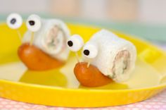 Snail fun snack