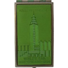 1933 Chicago World's Fair Souvenir Compact Hall of Science from mendocinovintage on Ruby Lane