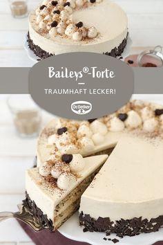 Baileys®-Torte # Baileys®-Torte: Eine sahnige Torte mit Alkohol zu Feiertagen - Baileys®-Torte # Baileys®-Torte: Eine sahnige Torte mit Alkohol zu Feiertagen Baileys® cake # Baileys® cake: A creamy cake with alcohol for holidays party board Beef Pies, Mince Pies, Food Cakes, Baileys Cake, Baileys Dessert, Cake Recipes, Dessert Recipes, Baking Desserts, Avocado Dessert