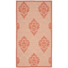 Safavieh Courtyard Cream/Terracotta 5 ft. 3 in. x 7 ft. 7 in. Indoor/Outdoor Area Rug-CY7133-11A7-5 - The Home Depot