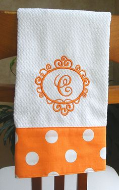Monogrammed Kitchen Towel Monogrammed Dish by CrystalCreates2001