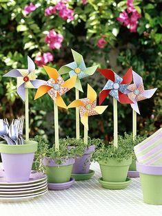 Pinwheels For Summer Party Decor #shopkick #summerparty