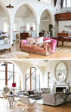 arches and rounded windows in a conversion