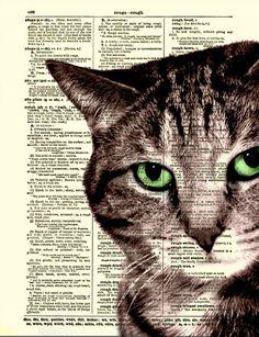 Astuto gato impreso en la página de por ReImaginationPrints en Etsy