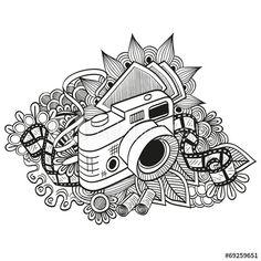 Doodle hipster camera
