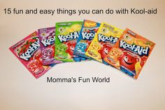 15 fun ways you can use kool-aid with hands on learning for kids. Also, cheaper than food coloring and adds a nice scent.