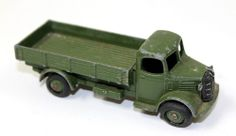 Dinky Toys AUSTIN Army Military Flat Bed Truck Troop Carrier vintage Diecast Car