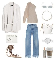"""""""Spring is coming"""" by fashionlandscape ❤ liked on Polyvore featuring The Row, Ancient Greek Sandals, 3x1, MANGO, RetroSuperFuture, Sophie Hulme, Skagen, Balenciaga, Club Monaco and Ilia"""
