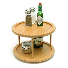 Bamboo 2-Tier Turntable  $19.99