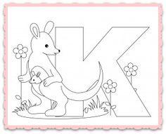 Animal-Alphabet-Letter-K for Kangaroo