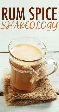 The next time you have the urge to imbibe, try this Shakeology recipe that's made with rum-flavored extract and spiced with cinnamon and nutmeg. It tastes like a rum cocktail, but it's actually healthy! // recipes // healthy drinks // beverages // chocolate shakeology // Beachbody // BeachbodyBlog.com