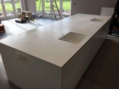 Corian Solid Surface, Kitchen, Home Decor, Cooking, Decoration Home, Room Decor, Interior Design, Kitchens, Home Interiors
