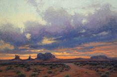 Kim Casebeer, Amethyst and Ochre, oil, 24 x 36.