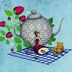 Carte postale - Les fraises Snowman, Disney Characters, Fictional Characters, Christmas Ornaments, Mai, Holiday Decor, House, Home Decor, Ideas