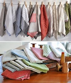 French Bakery Style: Pastry Stripe Kitchen Towels from Teroforma   The Kitchn