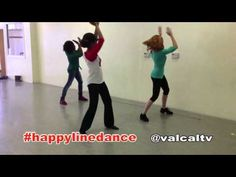 Line dance I choreographed to my favorite song right now, Pharrell& Happy! If you& a fast learner and don& need instruction, . Kids Dance Classes, Dance Lessons, Music Lessons, Line Dance, Music And Movement, Dance Movement, Music Education, Physical Education, Happy Dance Video