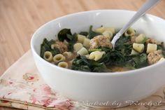 Slow Cooker Italian Sausage Meatball Wedding Soup - bakedbyrachel.com