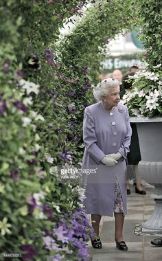 Queen Elizabeth II during a visit to the Chelsea Flower Show at Royal Hospital…