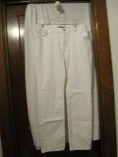 Womens Jeans Lauren & Co. by Ralph Lauren: White, Size 10  #RalphLauren #StraightLeg